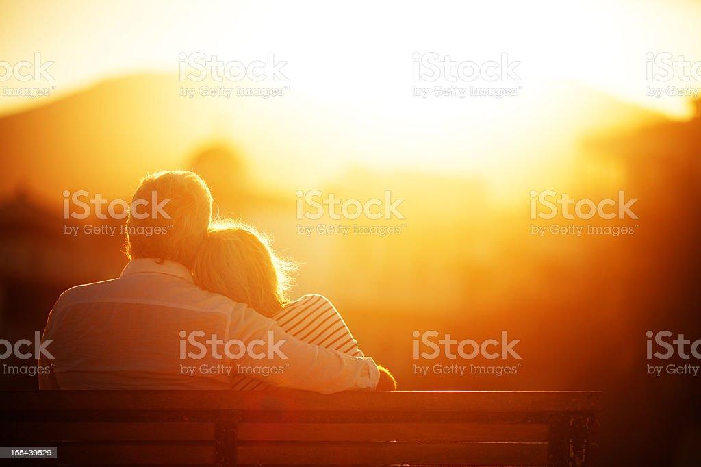 Senior couple enjoying their golden years stock photo