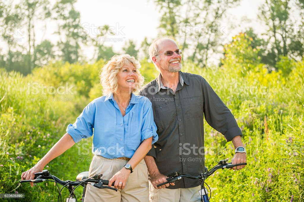 Senior Couple Enjoying Their Vacation stock photo