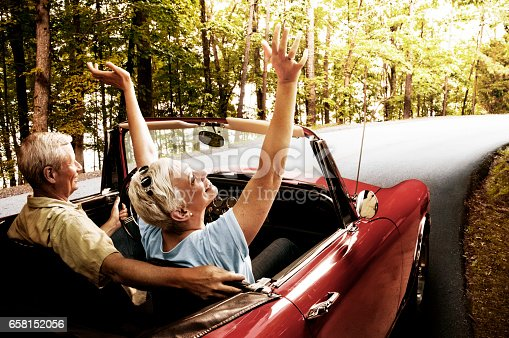 istock Senior Couple Going For a Drive 658152056