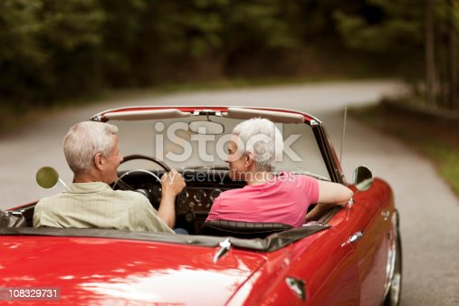 108329737istockphoto Senior Couple Going For a Drive, Rear View 108329731