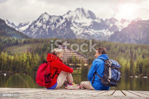 istock Senior couple hiking 502661727