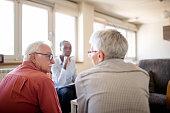 istock Senior couple home mental health therapy 1270205481