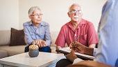 istock Senior couple home mental health therapy 1270205489