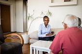 istock Senior couple home mental health therapy 1270205494