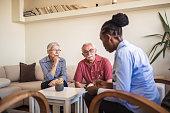 istock Senior couple home mental health therapy 1270205499