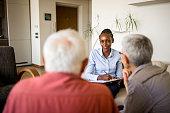 istock Senior couple home mental health therapy 1270205514
