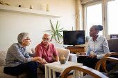 istock Senior couple home mental health therapy 1270205990