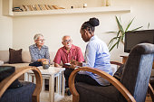istock Senior couple home mental health therapy 1270206020