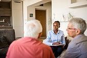 istock Senior couple home mental health therapy 1270206023