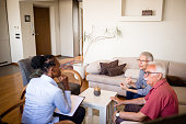 istock Senior couple home mental health therapy 1270206048