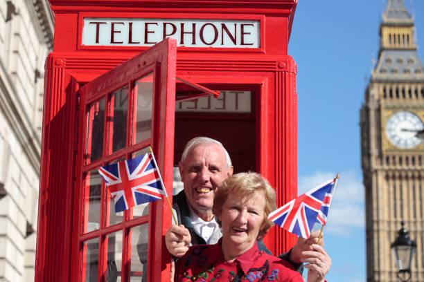Senior couple in London stock photo