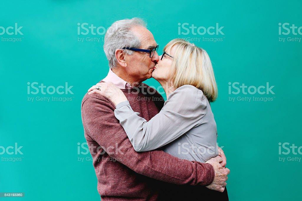 Senior coppia in amore - foto stock