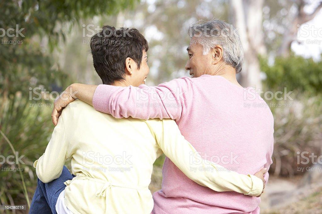 Senior Couple In Park royalty-free stock photo