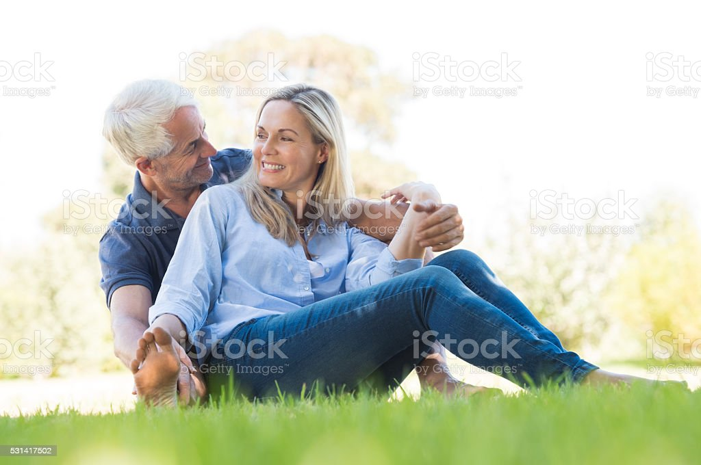 Altes Paar im park – Foto