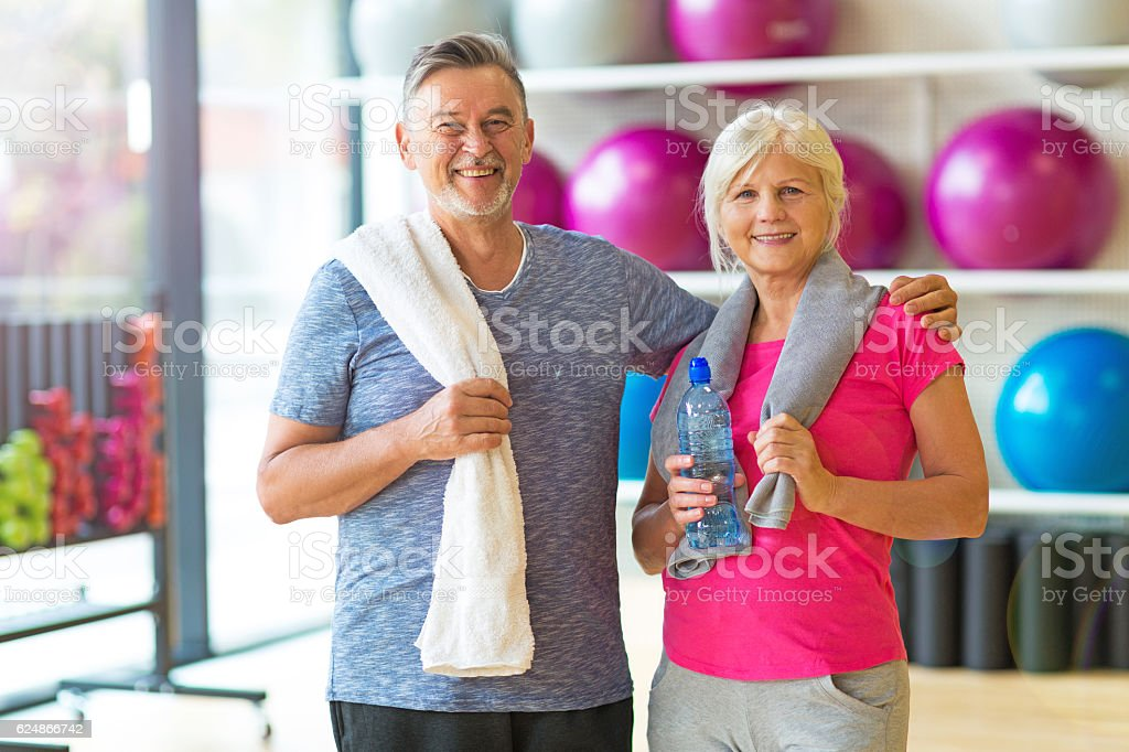 Senior Couple in the Gym - foto stock