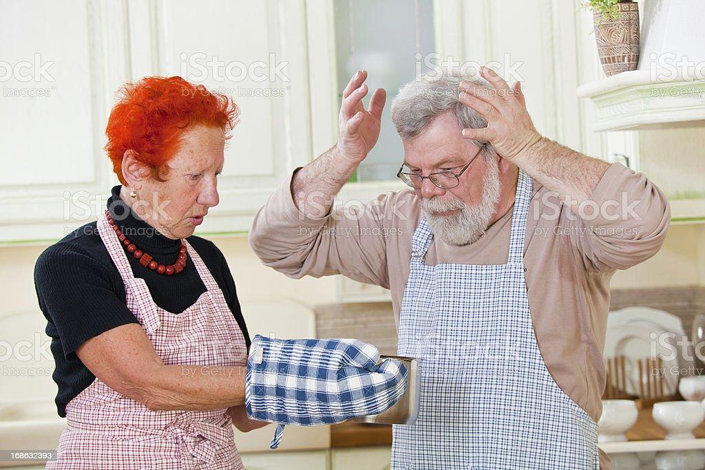 Senior Paar in der Küche – Foto