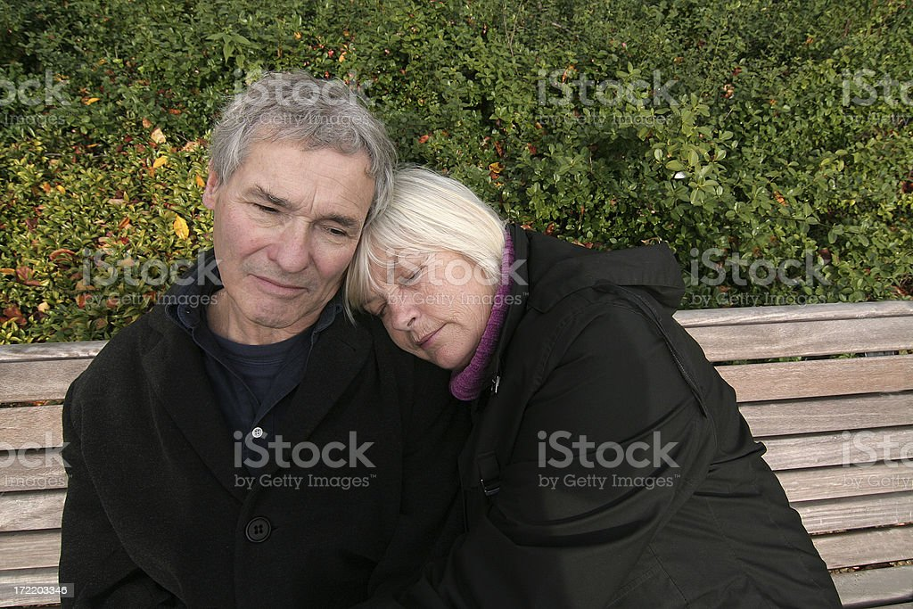 Senior Couple in the Park royalty-free stock photo