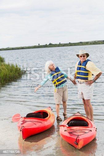 istock Senior couple kayaking 462769705