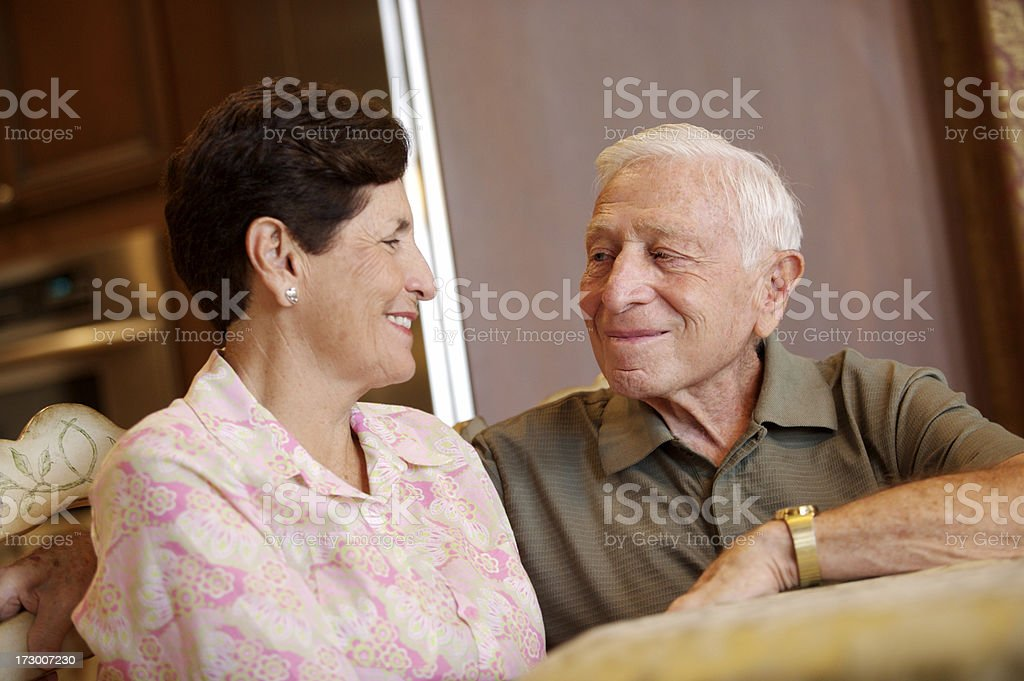 Senior couple looking at each other royalty-free stock photo