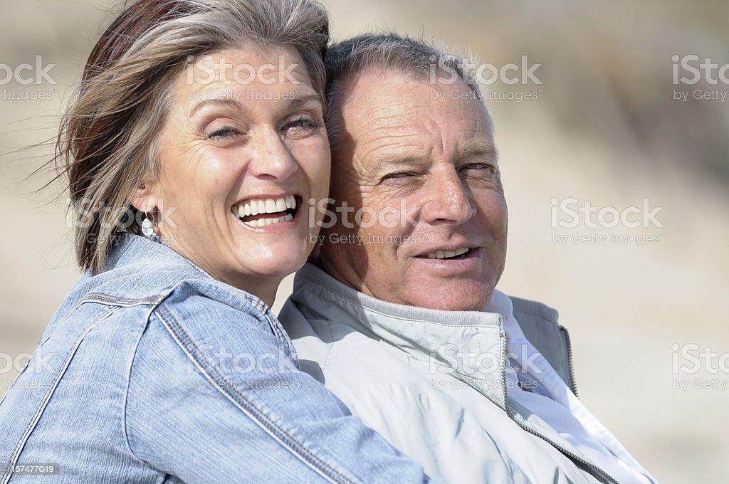 Senior couple looking healthy royalty-free stock photo