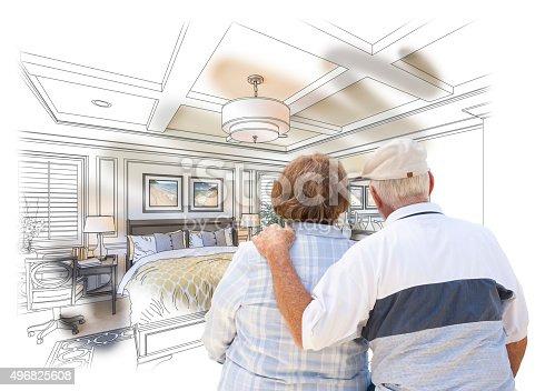 594910248istockphoto Senior Couple Looking Over Custom Bedroom Design Drawing Photo 496825608