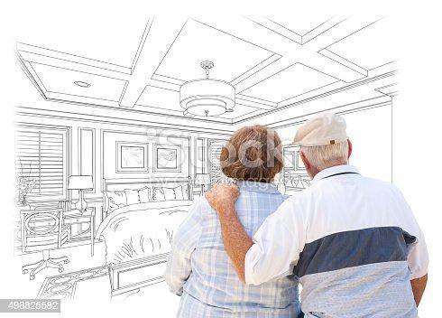 594910248istockphoto Senior Couple Looking Over Custom Bedroom Design Drawing 496825582