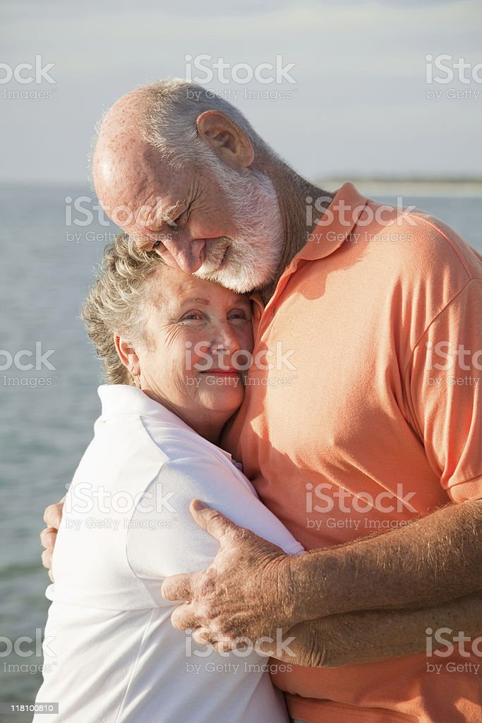 Senior Couple - Love and Tenderness royalty-free stock photo