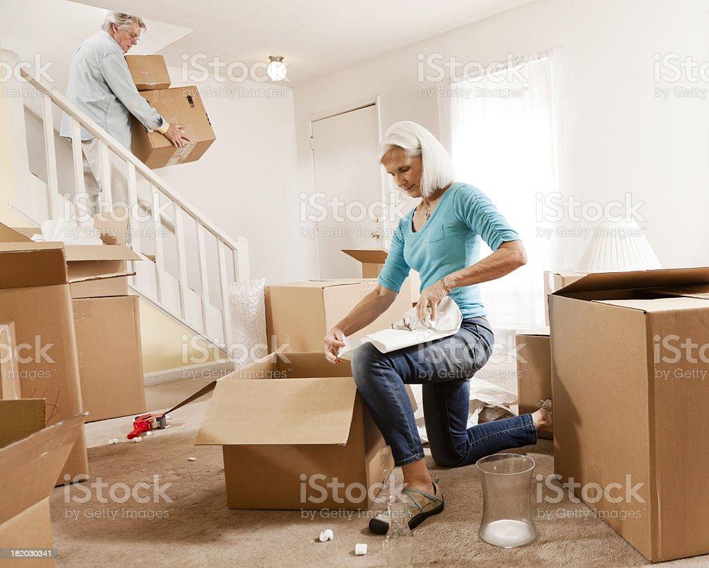Senior Couple Moving royalty-free stock photo