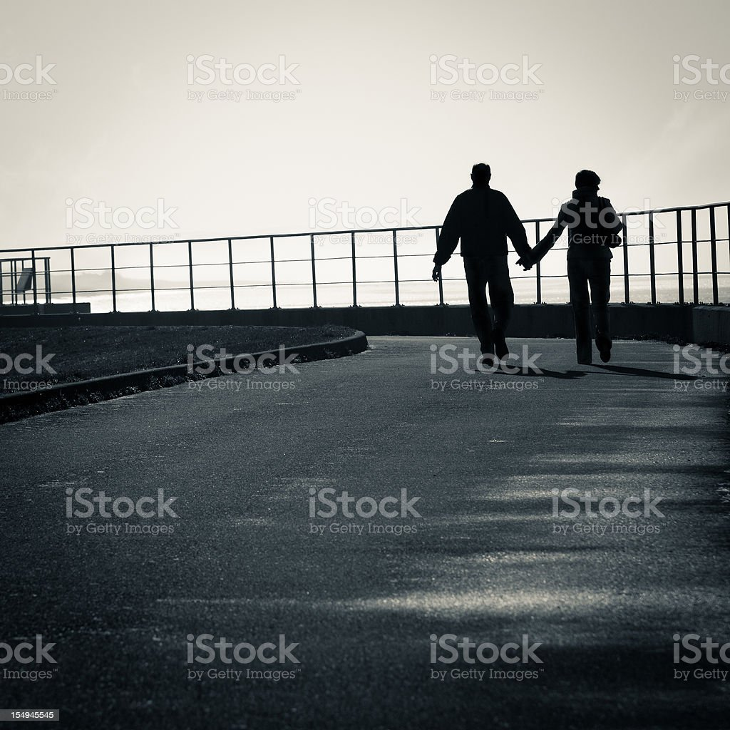 Senior couple on a date royalty-free stock photo