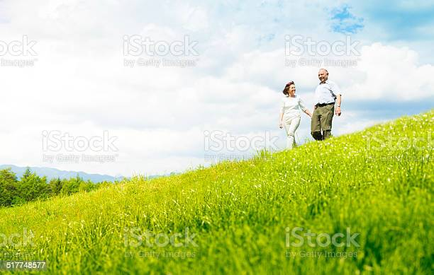 Photo of Senior couple on a meadow