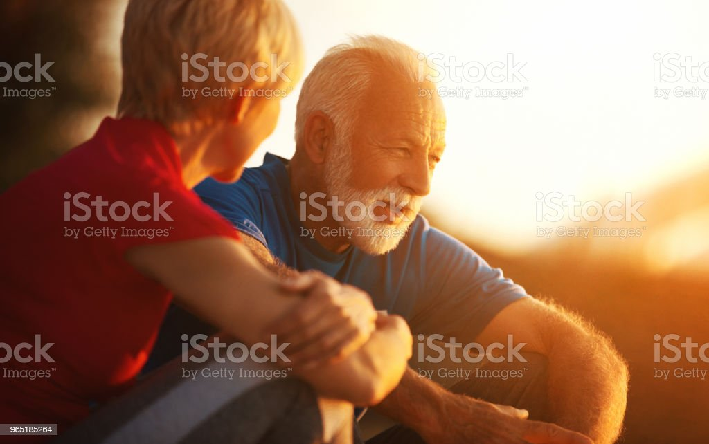 Senior couple on a romantic evening zbiór zdjęć royalty-free