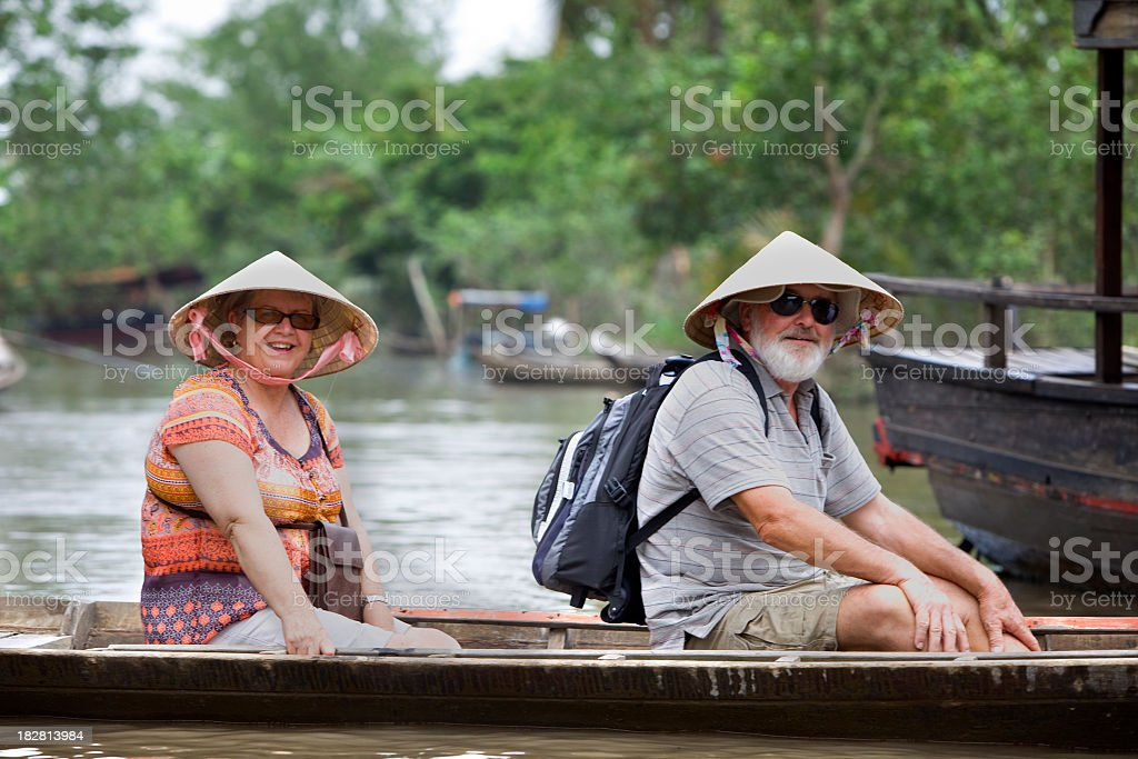Senior Couple on Holidays stock photo