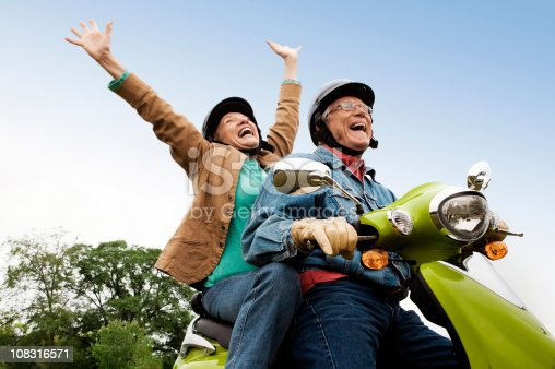 istock Senior Couple on Scooter 108316571