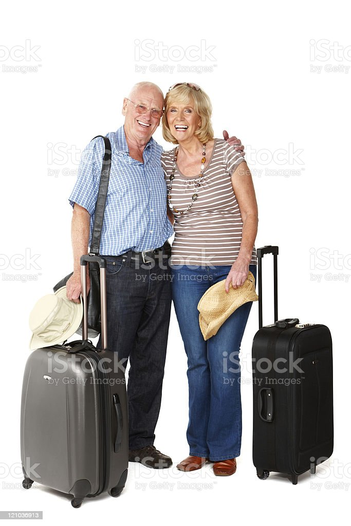 Senior Couple on Vacation - Isolated royalty-free stock photo