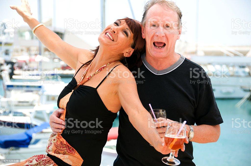 Senior Couple on Vacation royalty-free stock photo
