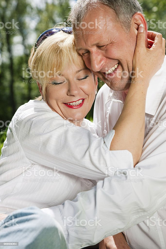 Senior couple outdoors royalty-free stock photo
