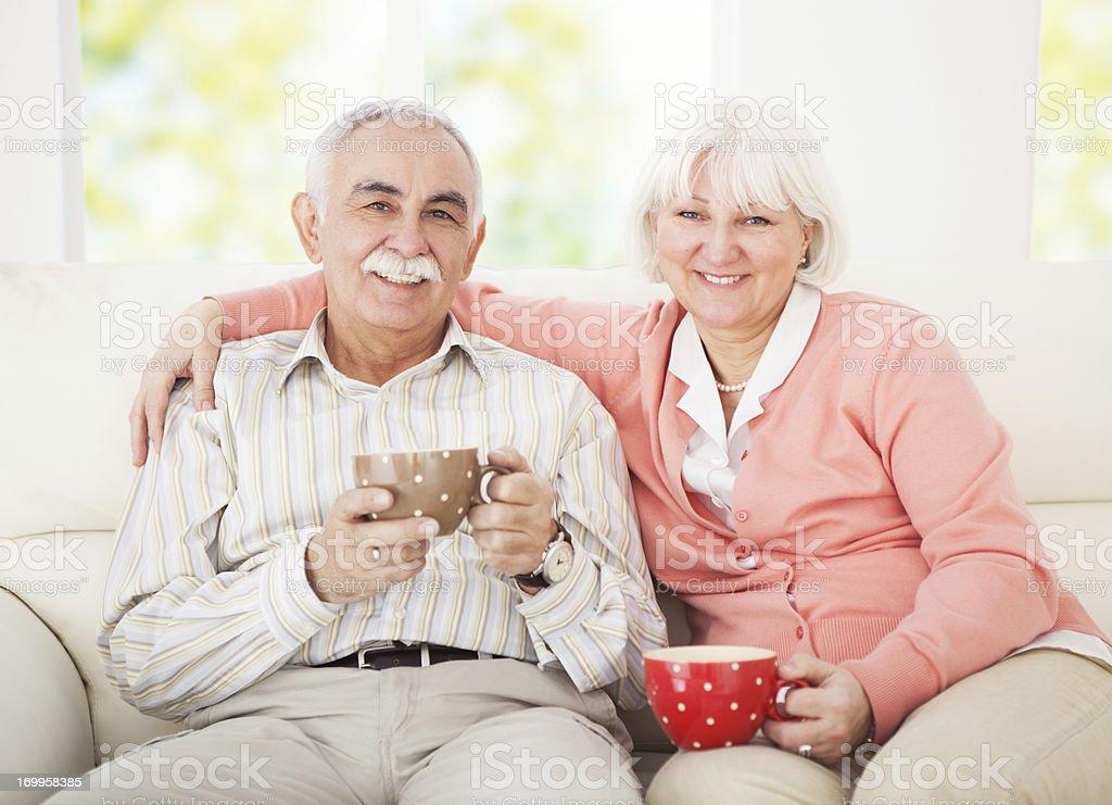 Senior couple. royalty-free stock photo