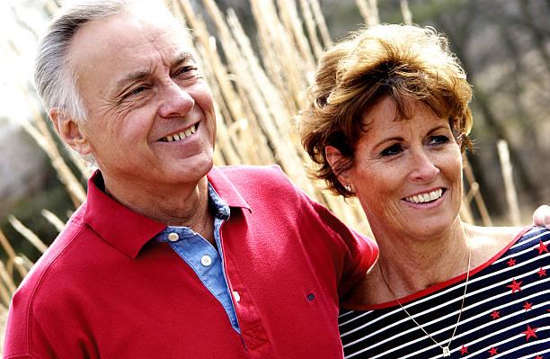 Senior couple portrait stock photo
