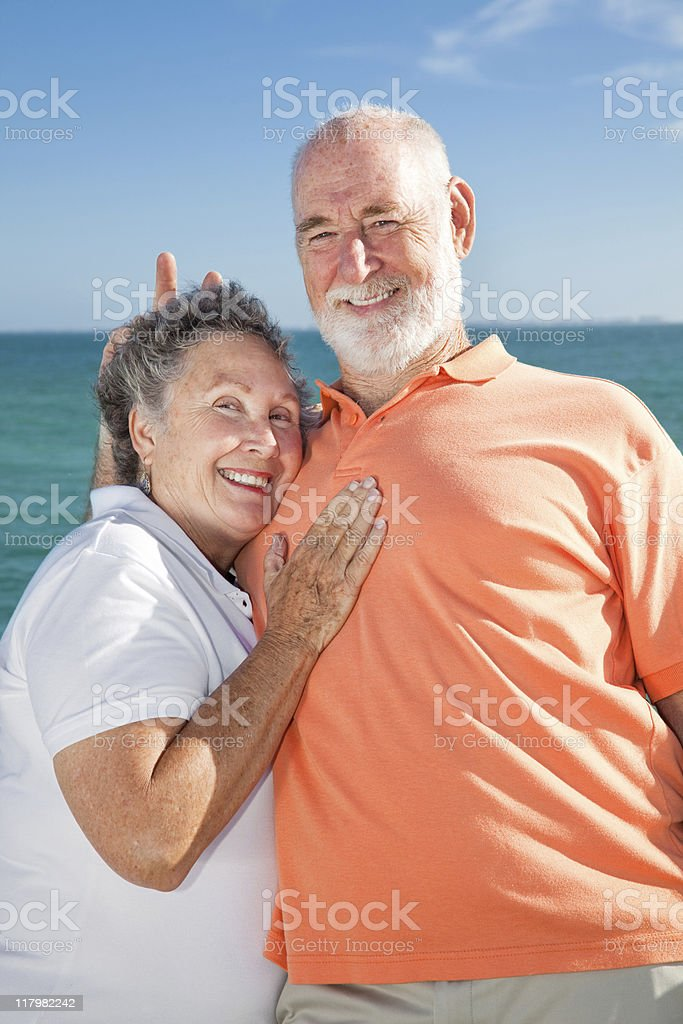 Senior Couple - Rabbit Ears royalty-free stock photo