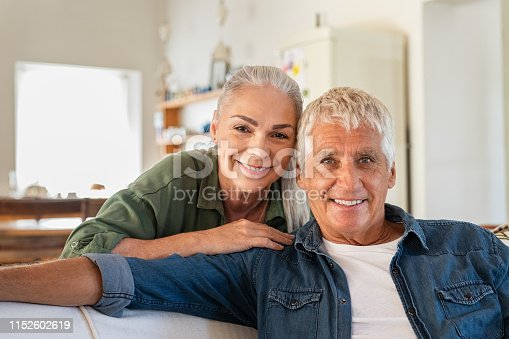 istock Senior couple relaxing at home 1152602619