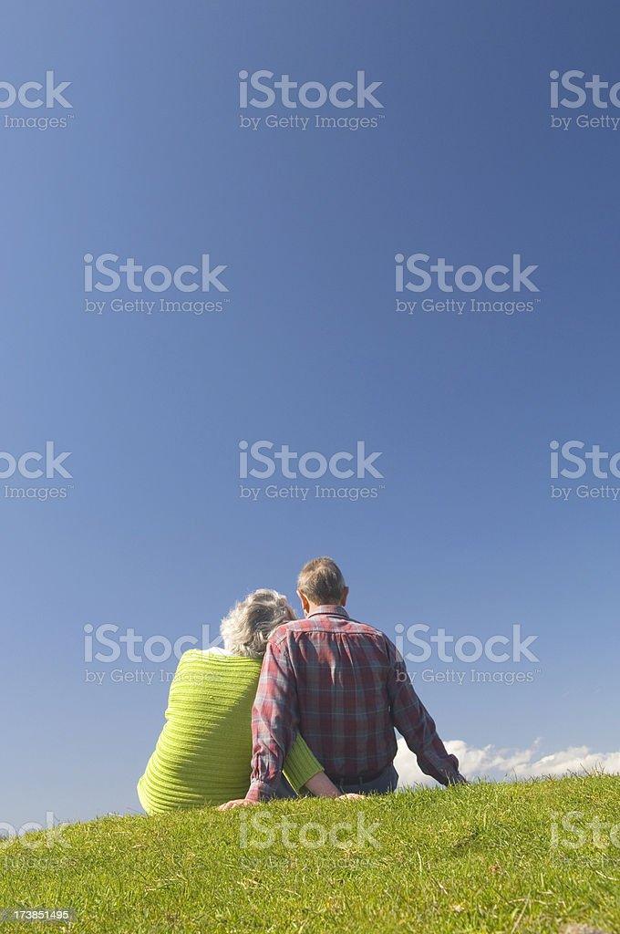 Senior couple relaxing royalty-free stock photo