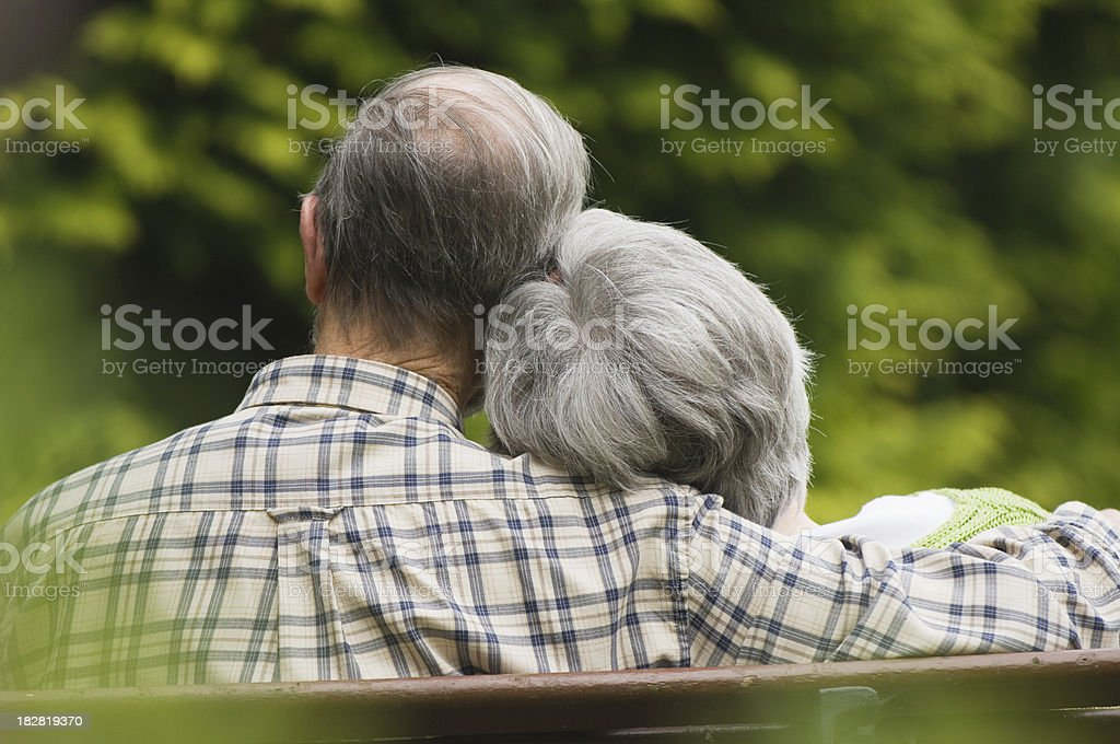 Senior couple relaxing royalty-free stock photo