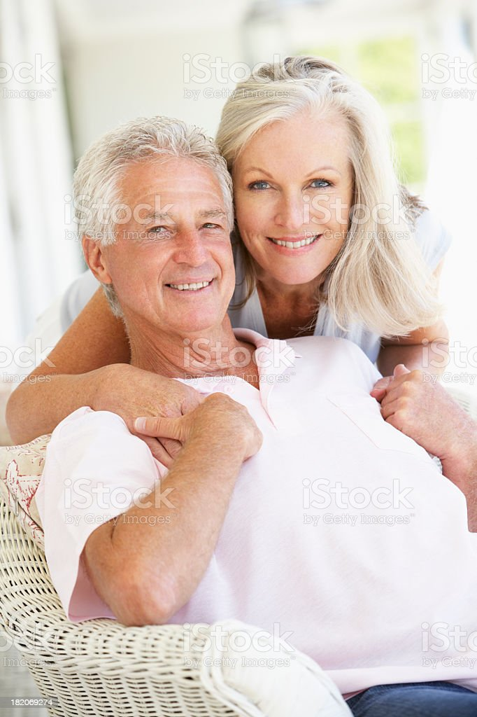 Senior Couple relaxing together royalty-free stock photo