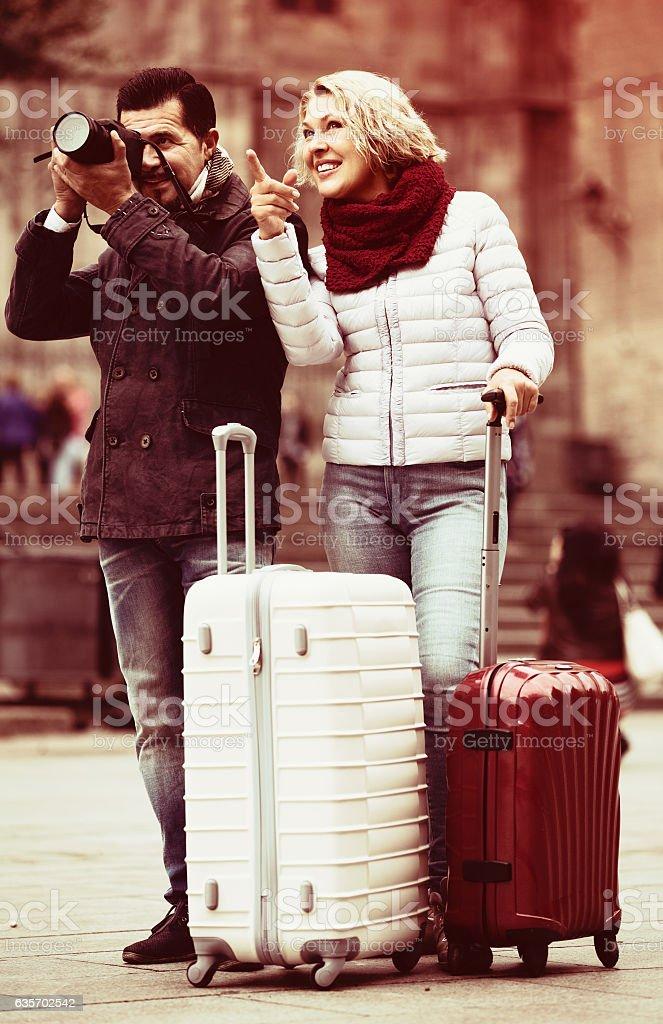 Senior couple  sightseeing royalty-free stock photo