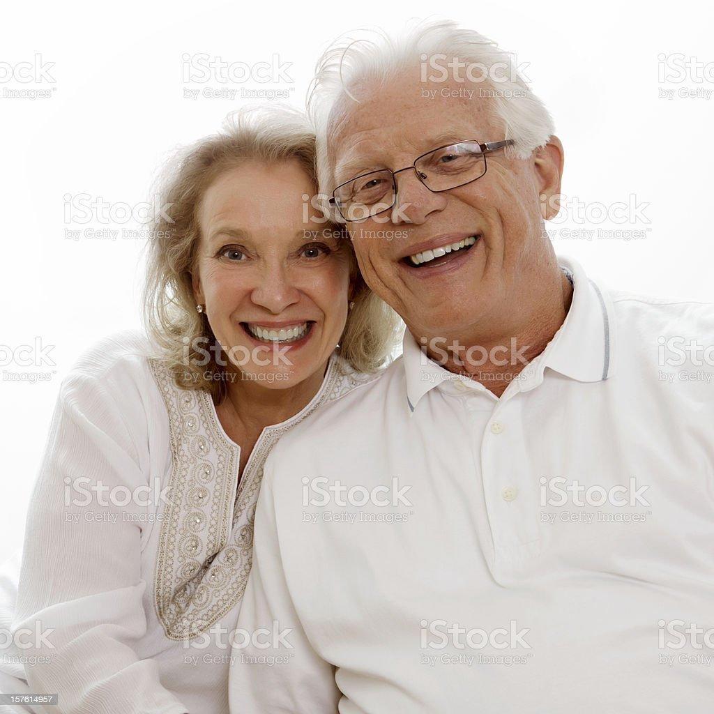 Senior Couple Smiling - Isolated royalty-free stock photo