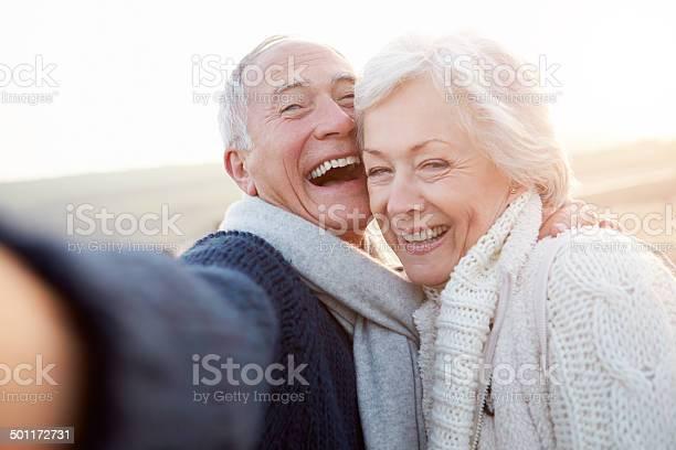 Senior couple standing on beach taking selfie picture id501172731?b=1&k=6&m=501172731&s=612x612&h=e slnkho cjvmibr8ofguomwptkvhp8c8s byxye1gm=