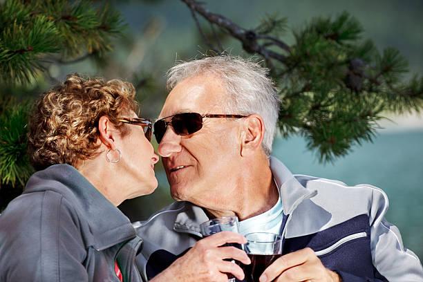 Senior couple still in love stock photo