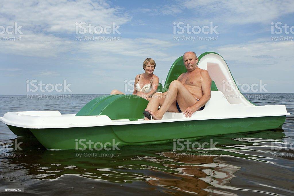 senior couple summer stock photo
