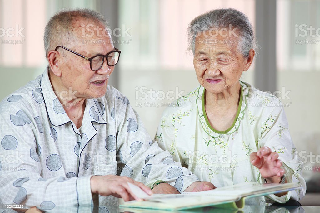 senior couple together royalty-free stock photo