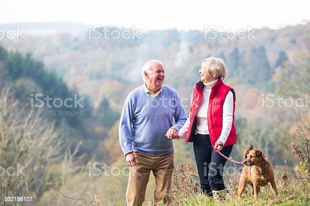 Senior couple walking their dog picture id532186127?b=1&k=6&m=532186127&s=612x612&h=ol07b40bwplz5ajp8fussmrwk74oytm6ajrunrmpnx0=